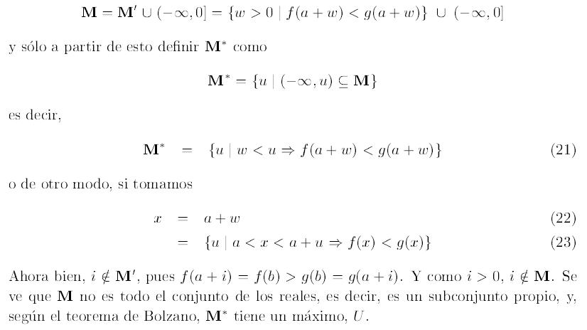 El Teorema Del Valor Intermedio Y La Completitud De Los Reales